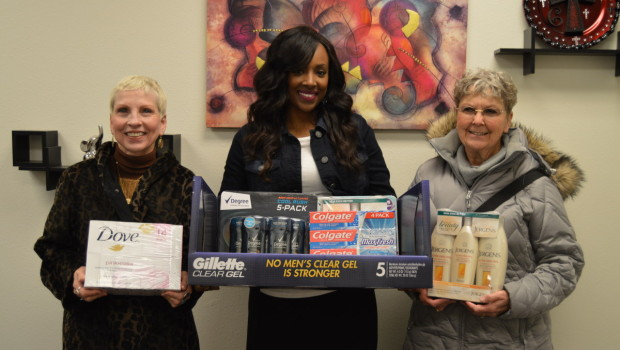 Metro Rotary Provides Items for Westwind Hygiene Pantry