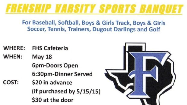 Spring Sports Banquet Set for May 18