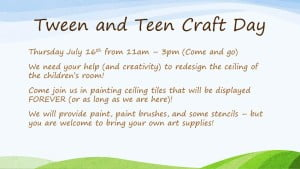 Teen Craft Day