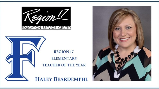 FISD Teacher Named Region 17 Elementary Teacher of the Year