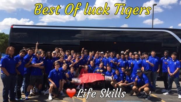 FHS Life Skills Students Cheer on the Tiger Football Team