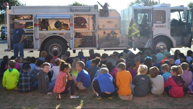 Fire Safety is the Hot Topic for Bennett Second Graders