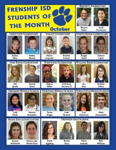 FISD Students of the Month-OCT15