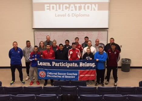 Local Soccer Coaches Complete NSCAA Training Course
