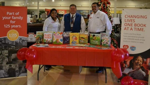 Westwind Receives Book Donation from Conn's Cares Program