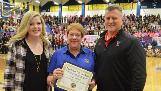 FHS Teacher is Mrs. Baird's Teacher on the Rise Award Recipient
