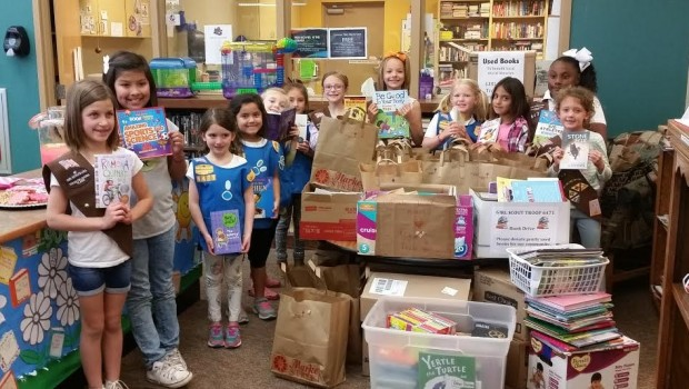 Girl Scout Troop 6471 earns Community Service Badge