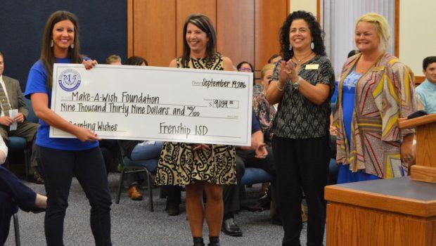 FISD Donates More Than $9,000 to Make-A-Wish Foundation
