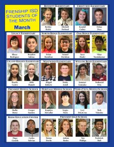 FISD Students of the Month MAR2017