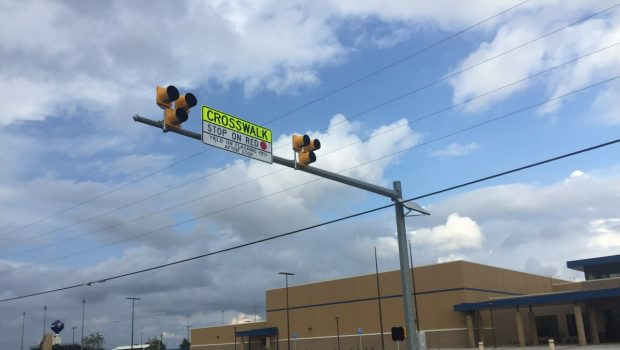 New Pedestrian Crosswalk at Ninth Grade Center Operational