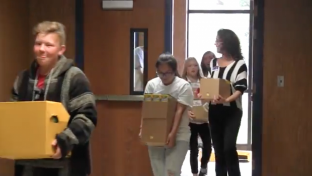Video: Frenship Middle School Receives School Supply Donation