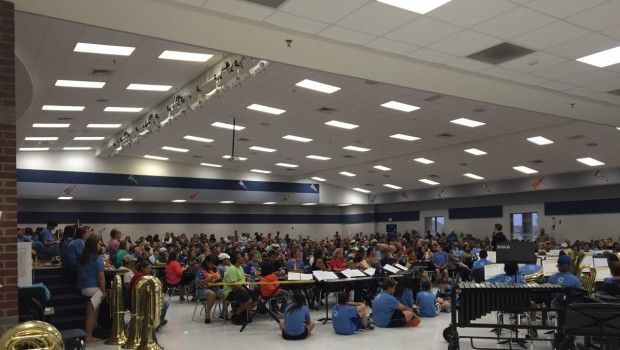 HMS Bands Entertain During Star Wars Themed Concert