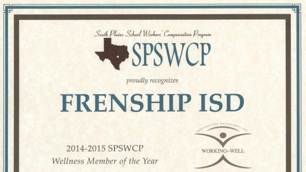 FISD Staff Named Wellness Member of the Year