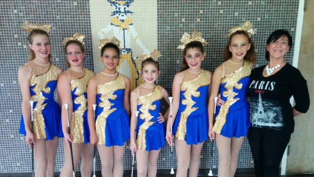 FMS Twirlers Win West Texas Auxiliary Championships