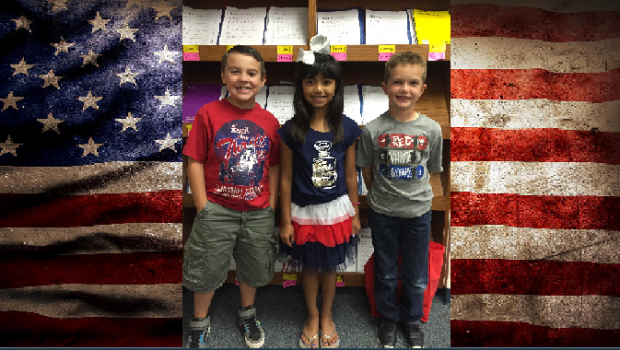 Westwind Students Celebrate the Red, White and Blue