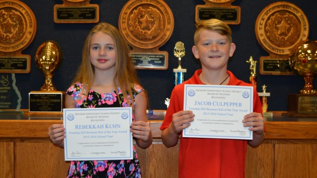 Young Entrepreneurs Named FISD Business Kids of the Year