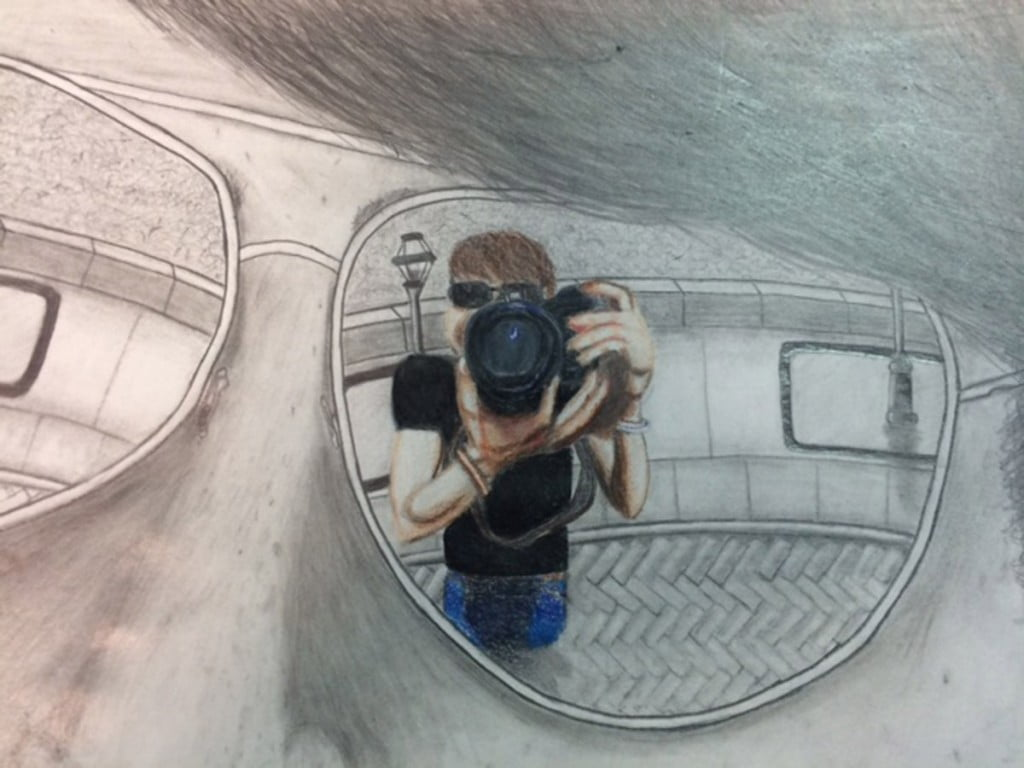 This year for the scholastic art competition Terra Vista Middle School had  two gold key recipients. First place went to Tanner Higgins and Natalie  Musquiz. 47bc604e01a