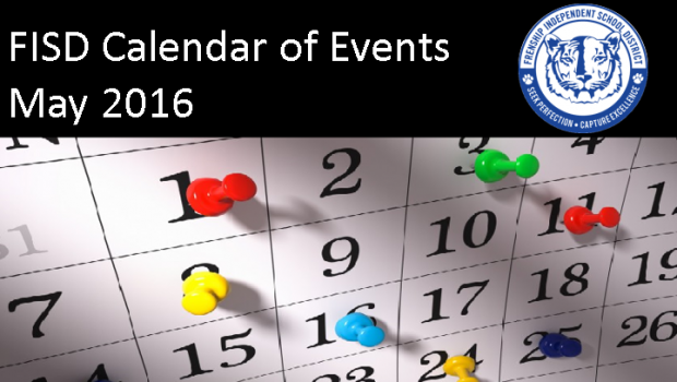 FISD Calendar of Events for May 2016