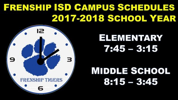 Frenship ISD Campus Start Times Staying the Same in 2017-18