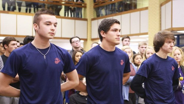 Frenship High Seniors Sworn Into U.S. Marine Corps