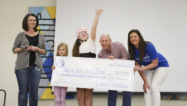 Legacy Elementary Donates More Than $2,000 to Make-A-Wish North Texas