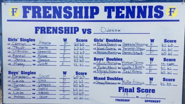 Tiger Team Tennis Opens District with Two Victories