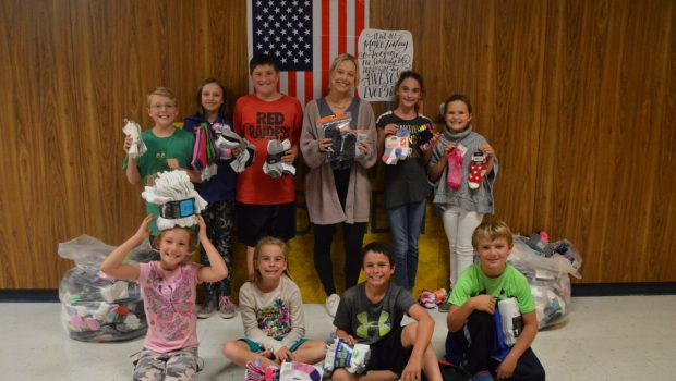Bennett Elementary Collects, Donates Socks for Frenship Community