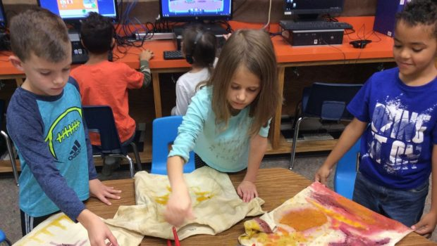 Tea, Beets, and Turmeric: First Graders Dye T-Shirts with Food Products