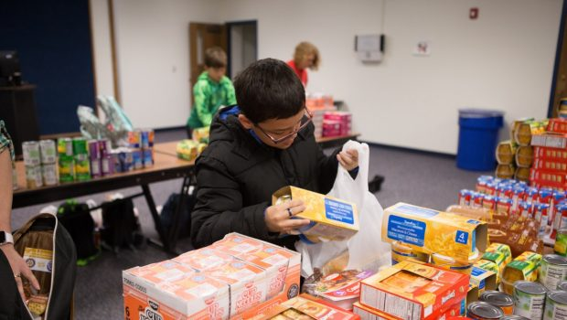 Food, Filling and Fun: Students, Rotary Club Join to Provide Food for Others Over the Holidays