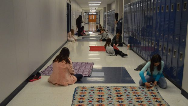 Heritage Middle School Students Donate Time to Keep Kids Warm