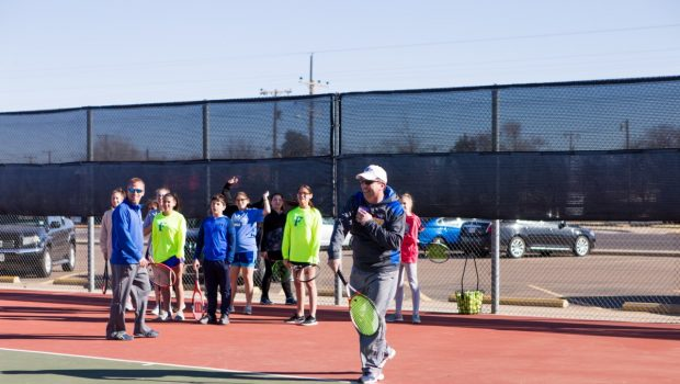 Game, Set, Match! FMS Principal, Tennis Coach Go Head-to-Head for U Can Share Drive