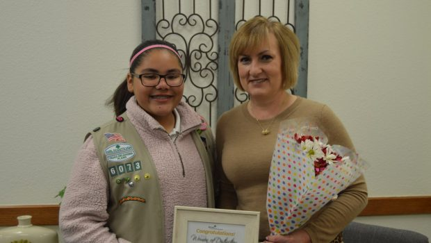 FISD Superintendent Recieves Award from Girl Scouts