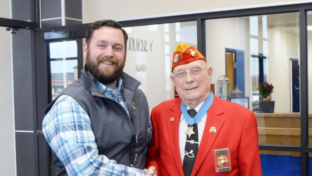 Frenship Students Welcome WWII Medal of Honor Recipient