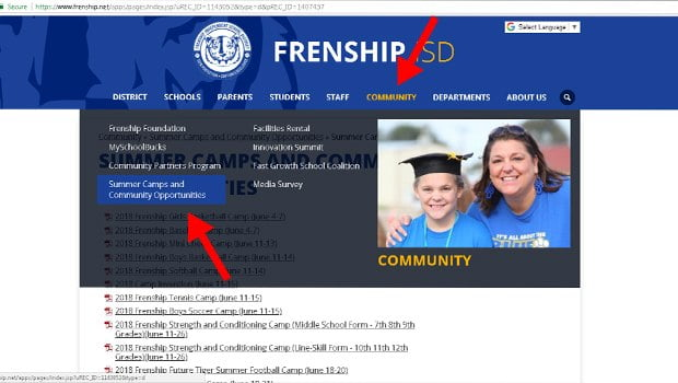 Summer Camps and Activities for Frenship Students