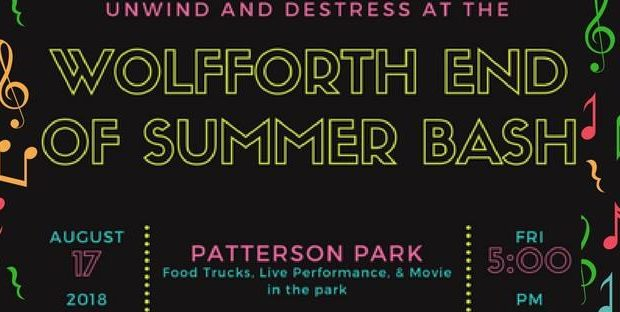 End of Summer Bash coming up on August 17