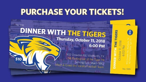 FRENSHIP HOMECOMING: Dinner with the Tigers