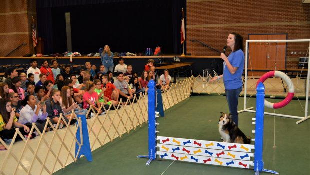 Heritage Middle School Gets a Visit from Man's Best Friend