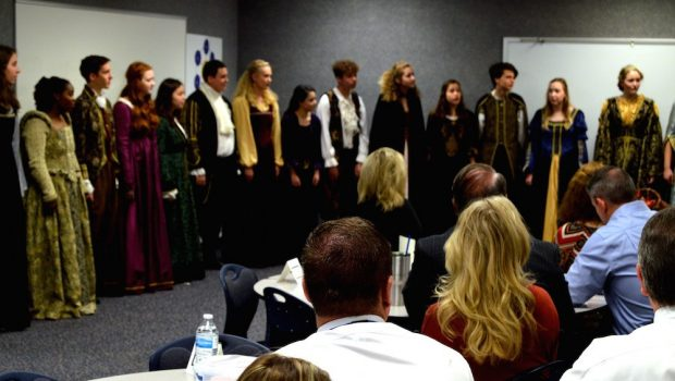 FHS Madrigal Choir Performs in Preparation for Madrigal Dinner