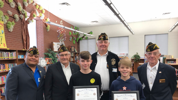 TVMS 7th Graders Find Success in VFW Essay Contest