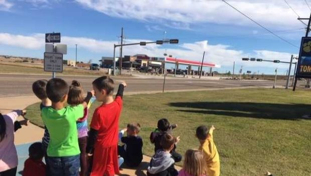 Bennett Transforms Traffic Light into Educational Opportunity
