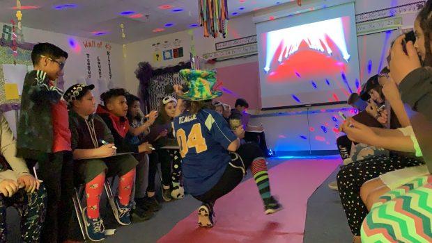 "Fourth Graders Participate in ""Adjective Fashion Show"""