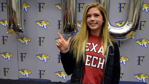 FHS Pole Vaulter Sarah Tackitt Signs with Texas Tech