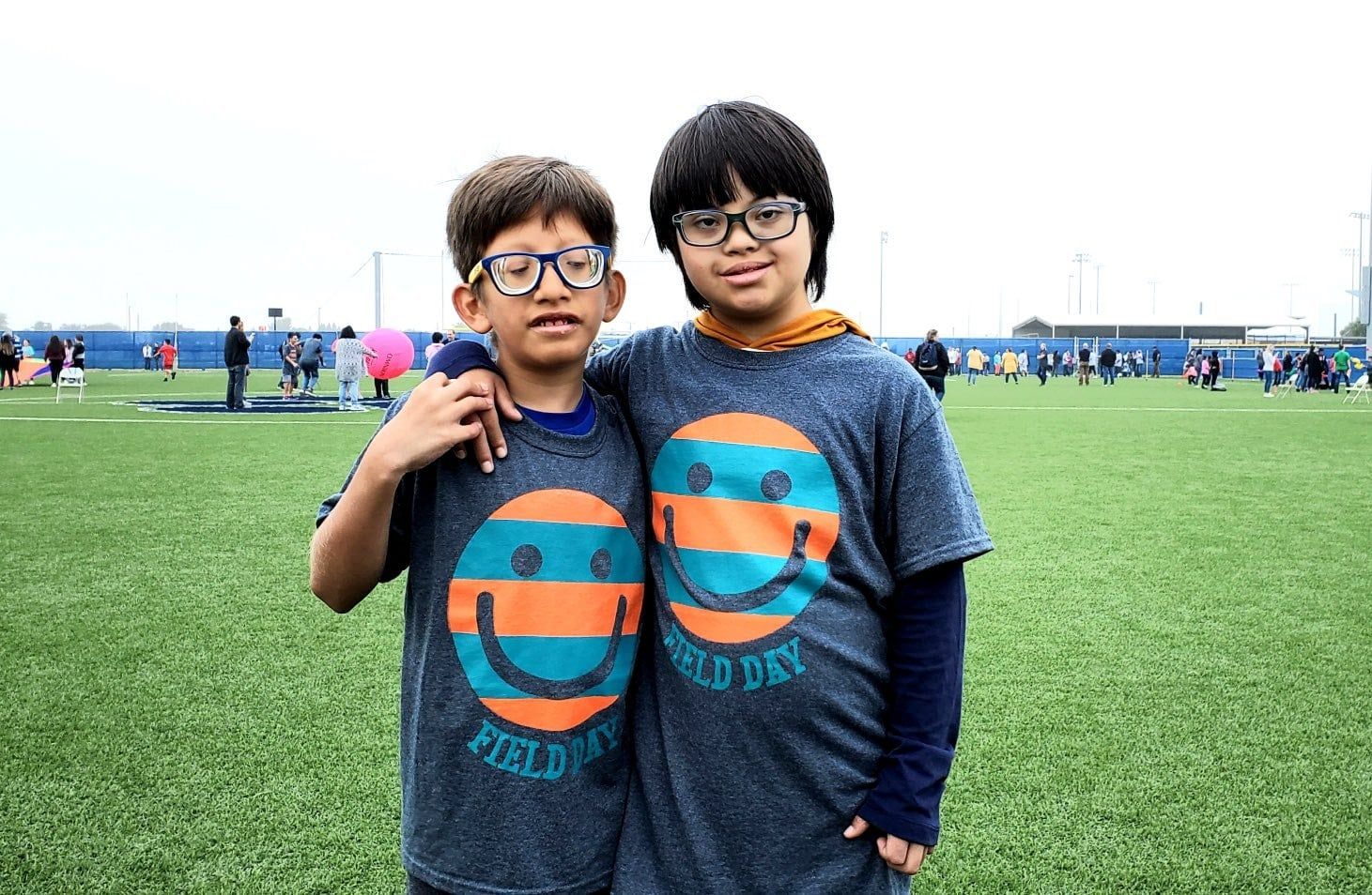 Terra Vista middle school students pose during field day