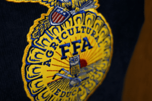 FFA logo on the back of the FFA jacket