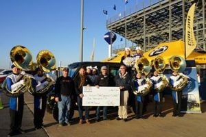 lubbock powersports makes donation to tiger band
