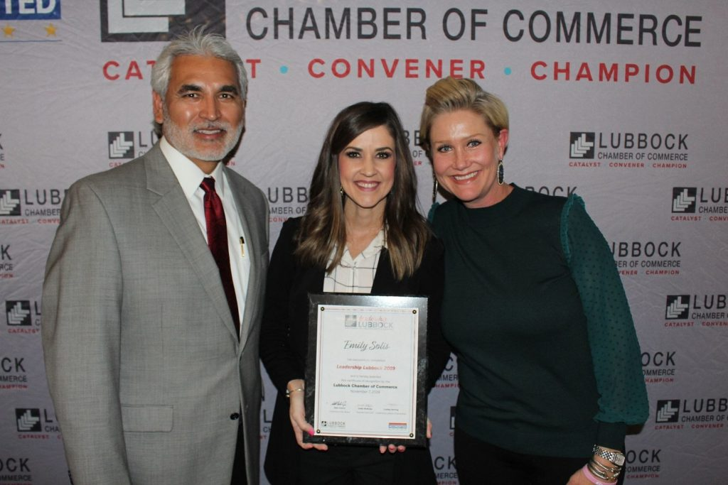 Emily solis graduates from Leadership Lubbock