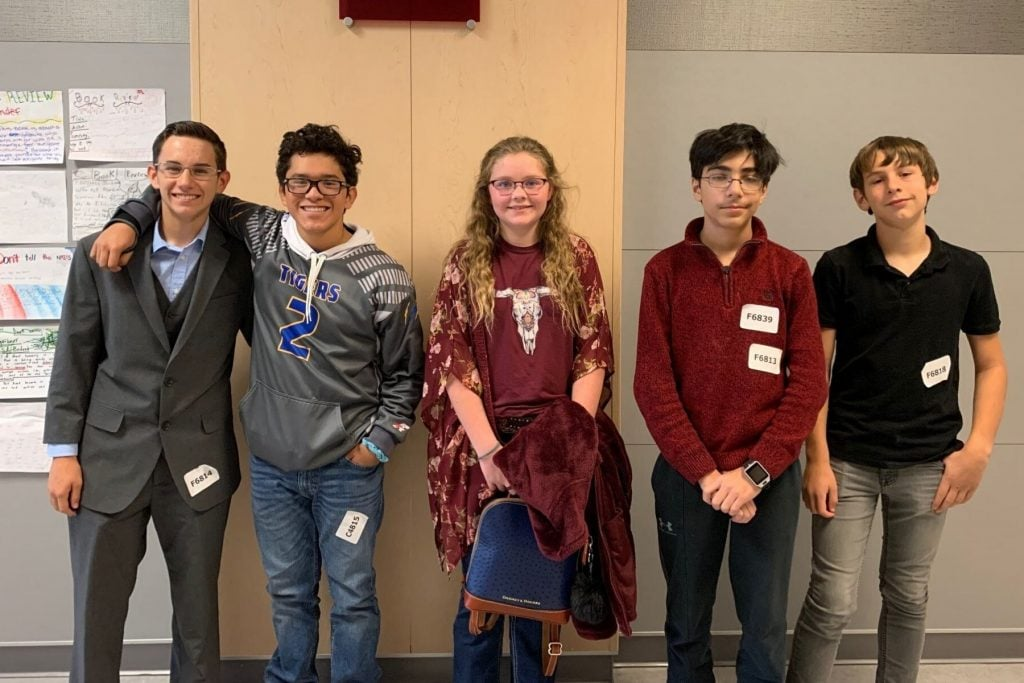 Frenship students pose at UIL competition
