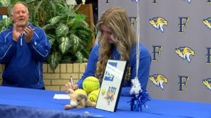 torrey hogan signs to play softball at angelo state