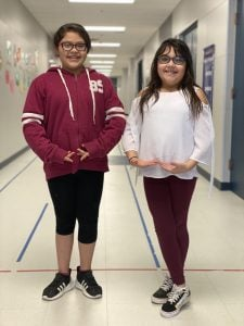 Mercedez Ybarra and Layla Barragan, 3rd Graders at Westwind Elementary