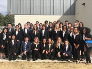 Frenship high school students at HOSA regional competition